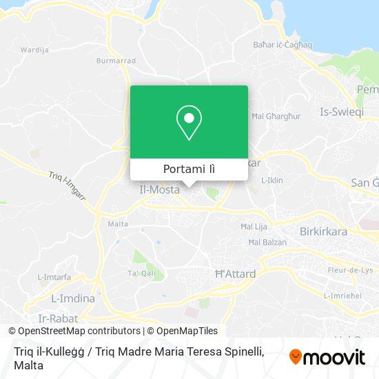 Mappa Triq il-Kulleġġ / Triq Madre Maria Teresa Spinelli