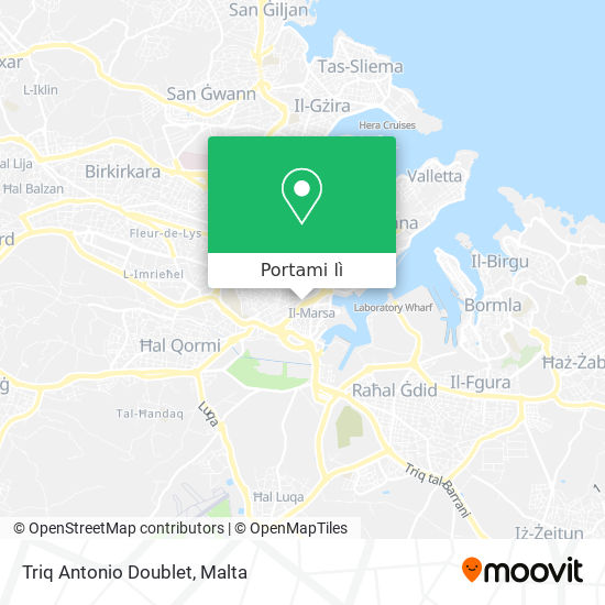 Mappa Triq Antonio Doublet