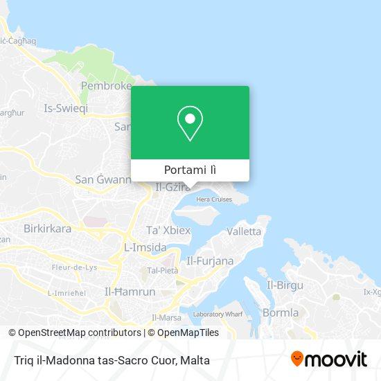Mappa Triq il-Madonna tas-Sacro Cuor