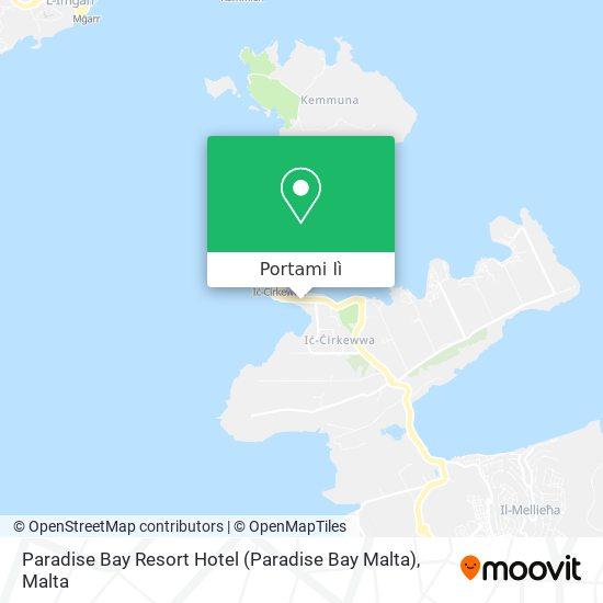 Mappa Paradise Bay Resort Hotel (Paradise Bay Malta)