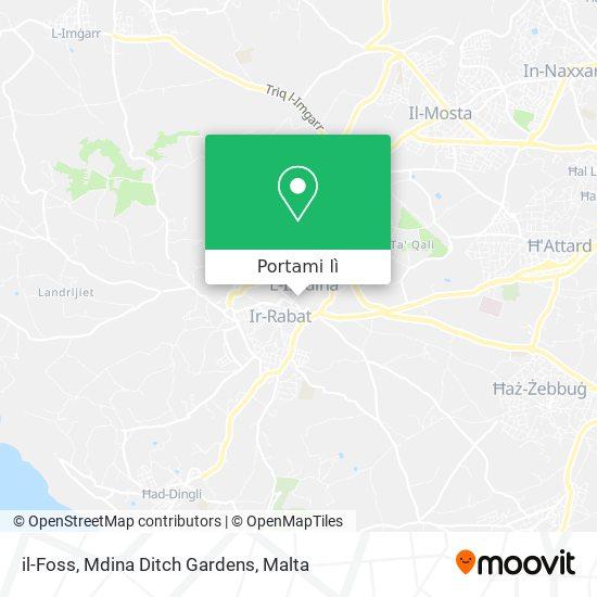 Mappa il-Foss, Mdina Ditch Gardens