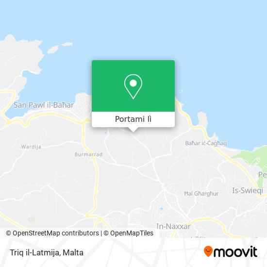Mappa Triq il-Latmija