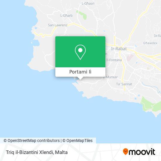 Mappa Triq il-Bizantini Xlendi