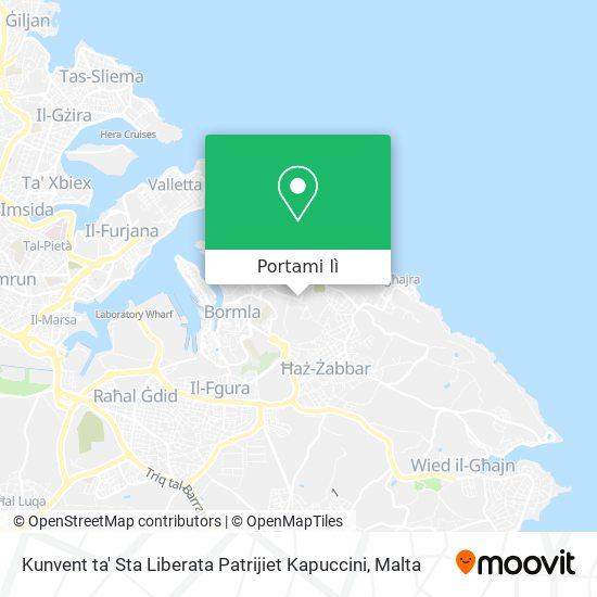 Mappa Kunvent ta' Sta Liberata Patrijiet Kapuccini