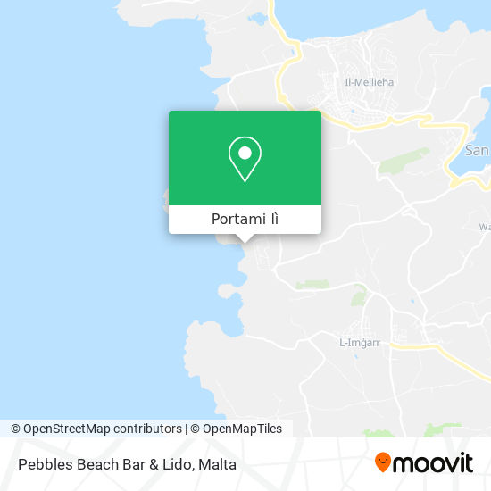 Mappa Pebbles Beach Bar & Lido