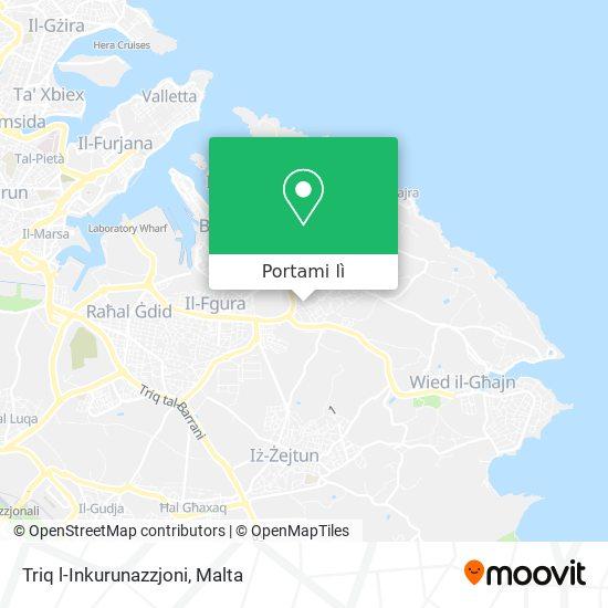 Mappa Triq l-Inkurunazzjoni