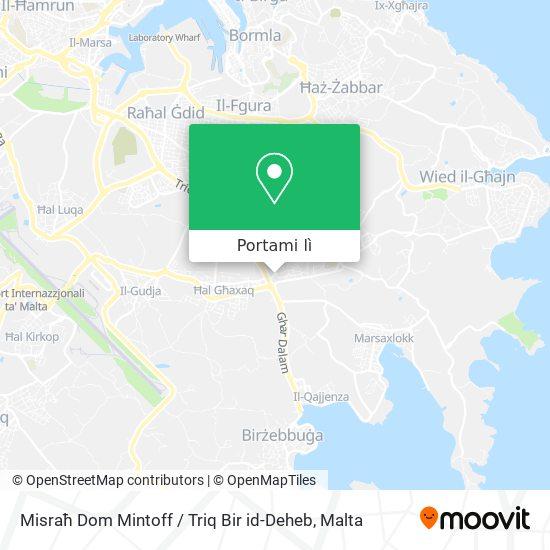Mappa Misraħ Dom Mintoff / Triq Bir id-Deheb