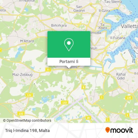 Mappa Triq l-Imdina 198