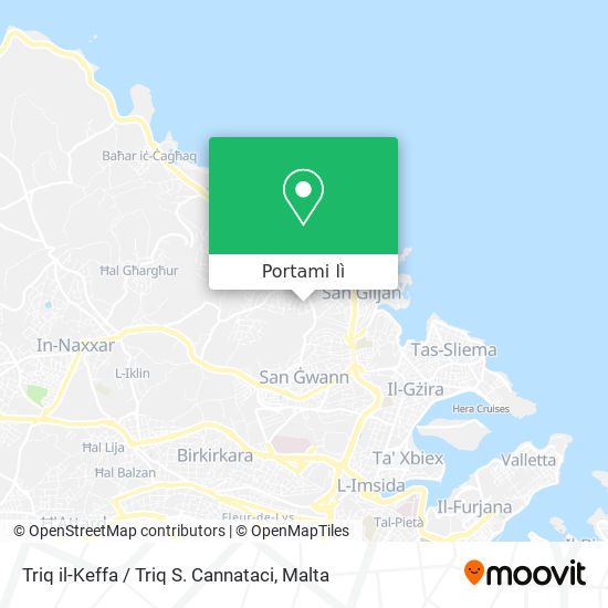 Mappa Triq il-Keffa / Triq S. Cannataci