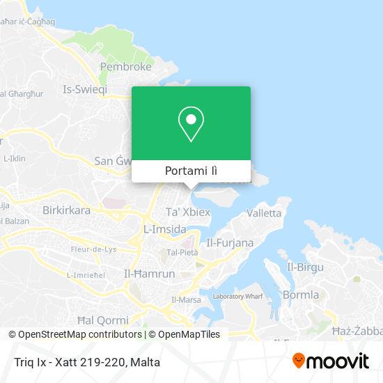 Mappa Triq Ix - Xatt 219-220
