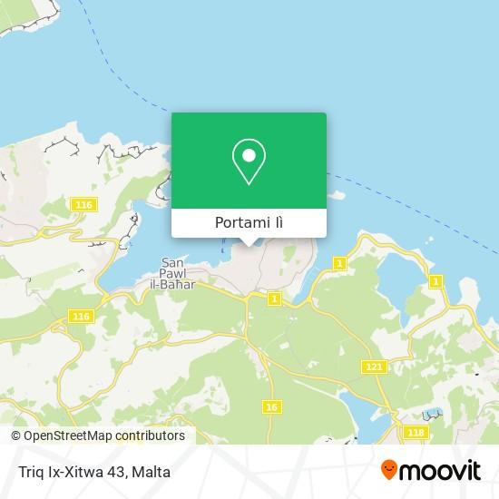 Mappa Triq Ix-Xitwa 43