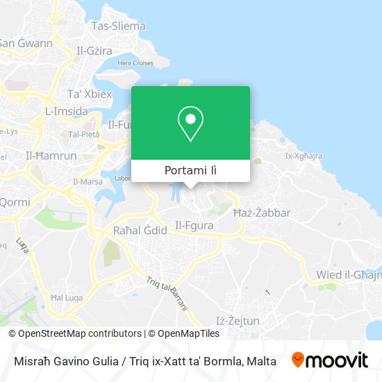Mappa Misraħ Gavino Gulia / Triq ix-Xatt ta' Bormla