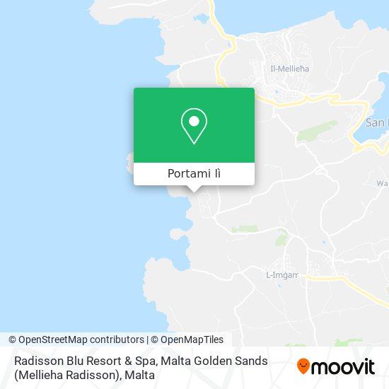 Mappa Radisson Blu Resort & Spa, Malta Golden Sands (Mellieha Radisson)