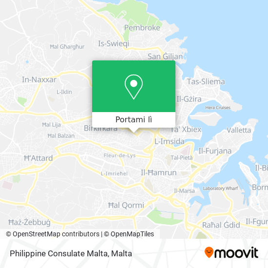 Mappa Philippine Consulate Malta