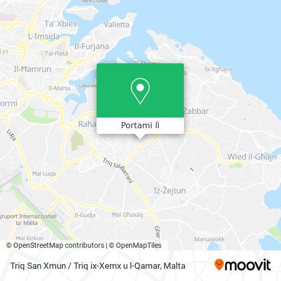 Mappa Triq San Xmun / Triq ix-Xemx u l-Qamar