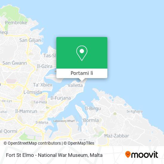 Mappa Fort St Elmo - National War Museum