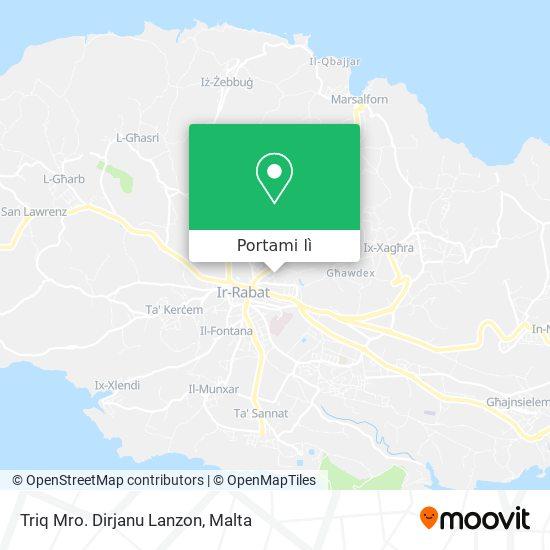 Mappa Triq Mro. Dirjanu Lanzon