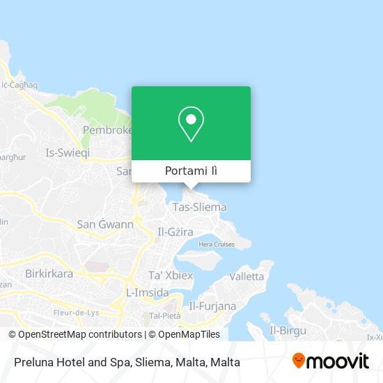 Mappa Preluna Hotel and Spa, Sliema, Malta