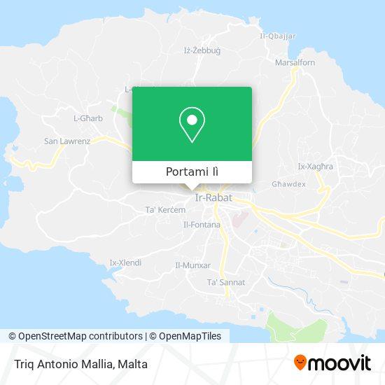 Mappa Triq Antonio Mallia