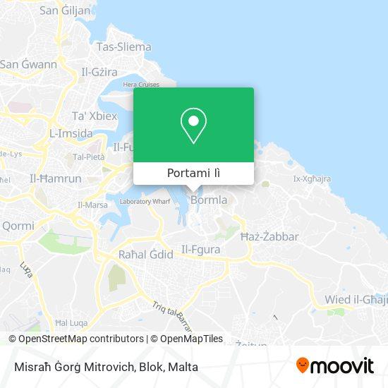 Mappa Misraħ Ġorġ Mitrovich, Blok