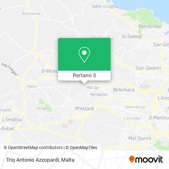Mappa Triq Antonio Azzopardi