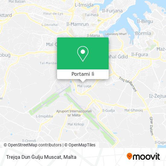 Mappa Trejqa Dun Ġulju Muscat