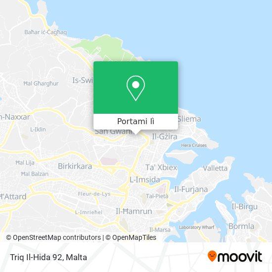 Mappa Triq Il-Hida 92