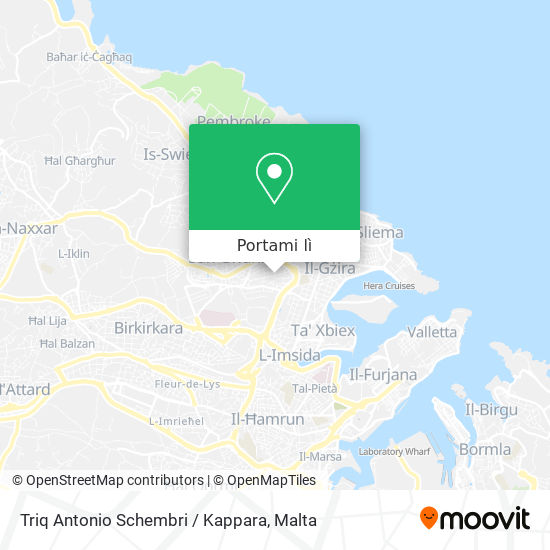 Mappa Triq Antonio Schembri / Kappara