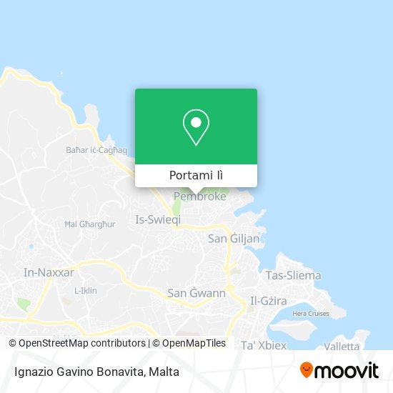 Mappa Ignazio Gavino Bonavita