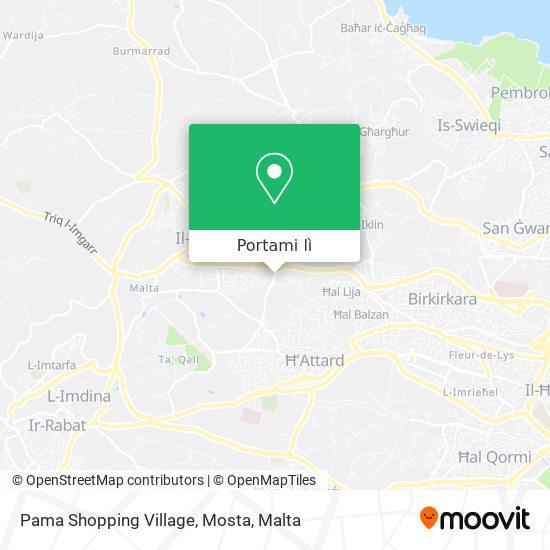 Mappa Pama Shopping Village, Mosta