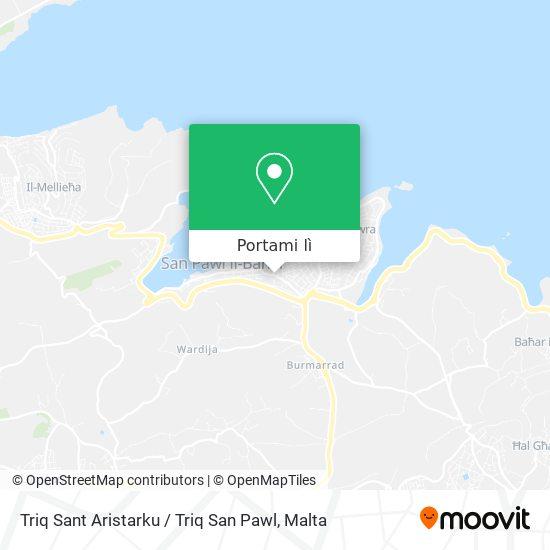 Mappa Triq Sant Aristarku / Triq San Pawl
