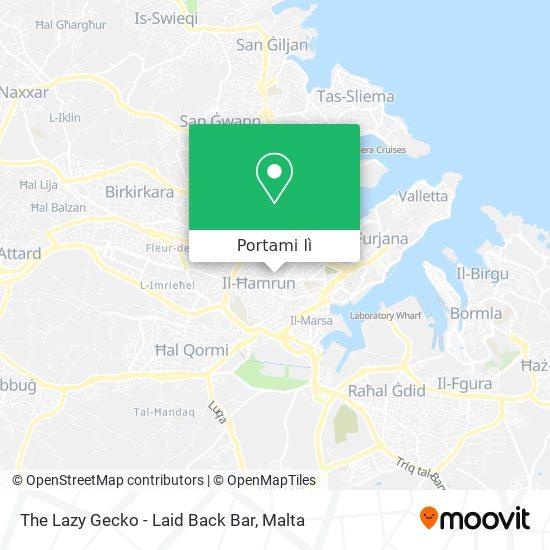 Mappa The Lazy Gecko - Laid Back Bar
