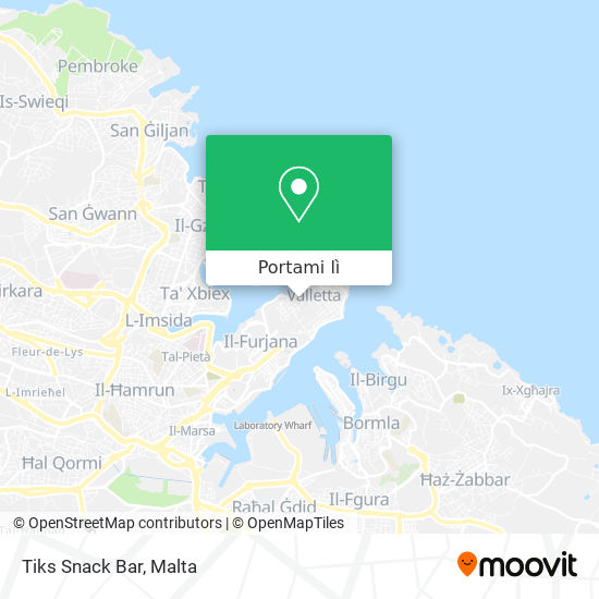 Mappa Tiks Snack Bar