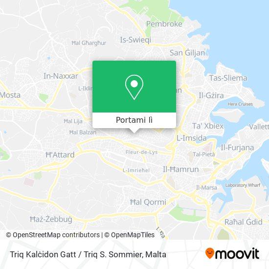 Mappa Triq Kalċidon Gatt / Triq S. Sommier