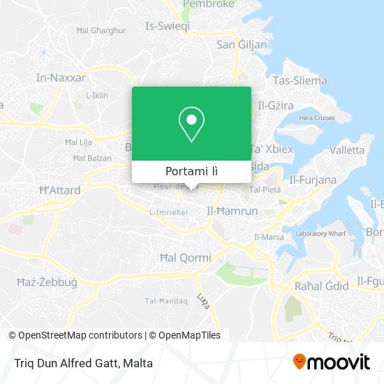 Mappa Triq Dun Alfred Gatt