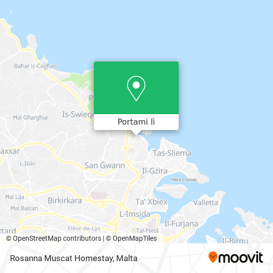 Mappa Rosanna Muscat Homestay