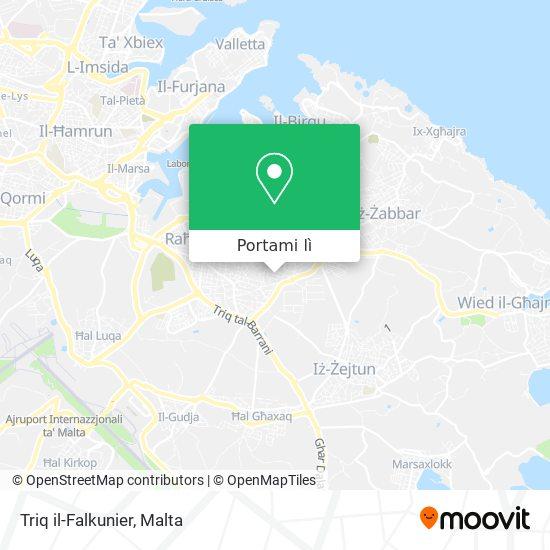 Mappa Triq il-Falkunier