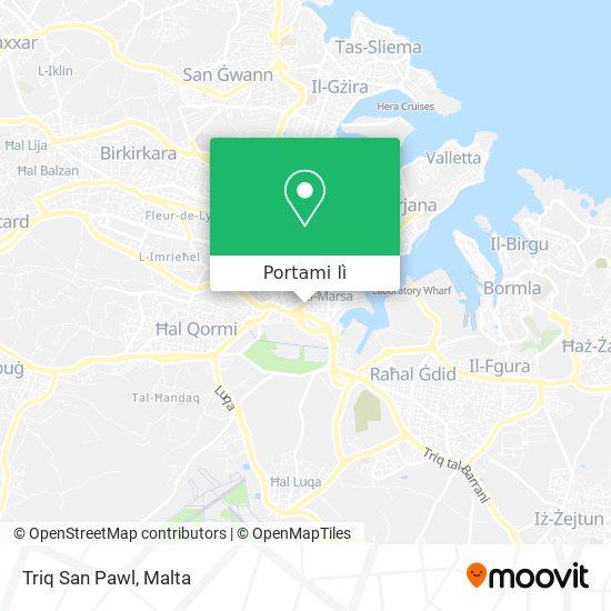Mappa Triq San Pawl