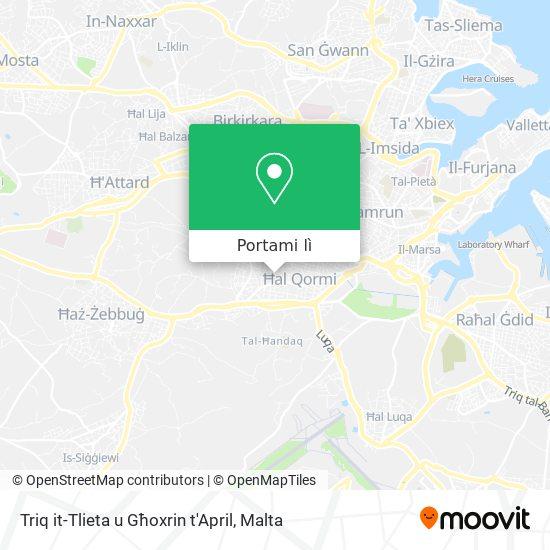 Mappa Triq it-Tlieta u Għoxrin t'April
