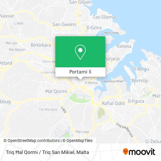 Mappa Triq Ħal Qormi / Triq San Mikiel