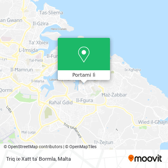 Mappa Triq ix-Xatt ta' Bormla