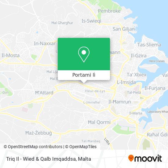 Mappa Triq Il - Wied & Qalb Imqaddsa