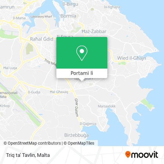 Mappa Triq ta' Tavlin