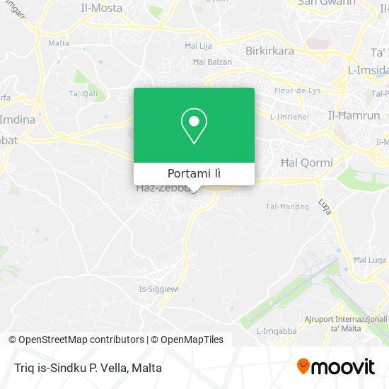 Mappa Triq is-Sindku P. Vella