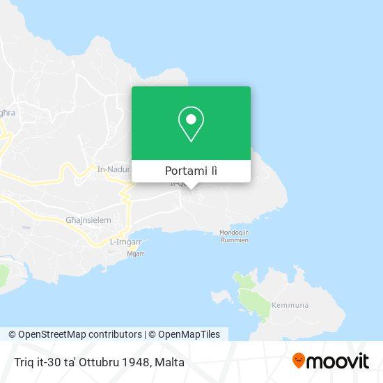 Mappa Triq it-30 ta' Ottubru 1948