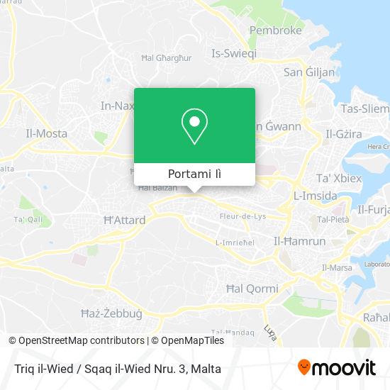 Mappa Triq il-Wied / Sqaq il-Wied Nru. 3