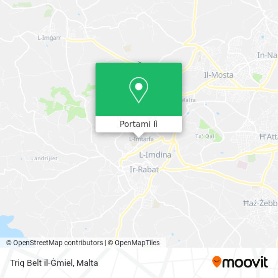 Mappa Triq Belt il-Ġmiel