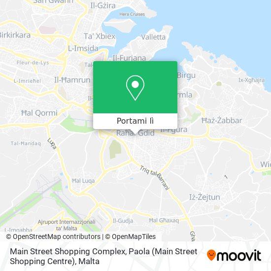 Mappa Main Street Shopping Complex, Paola (Main Street Shopping Centre)