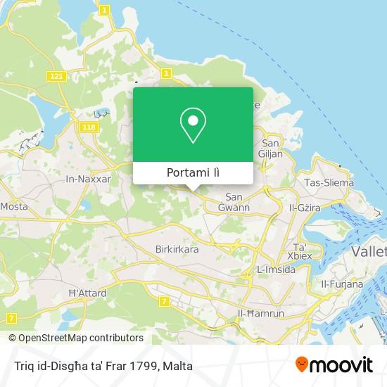 Mappa Triq id-Disgħa ta' Frar 1799
