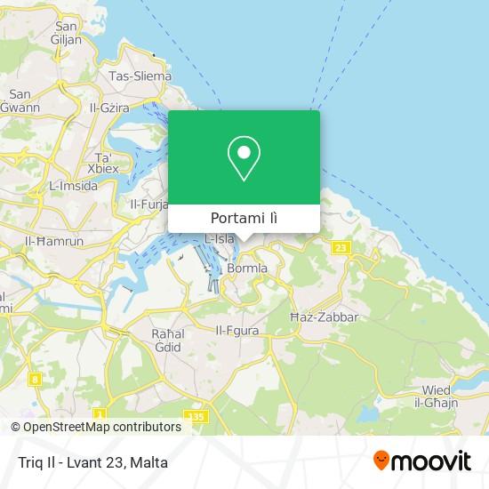 Mappa Triq Il - Lvant 23